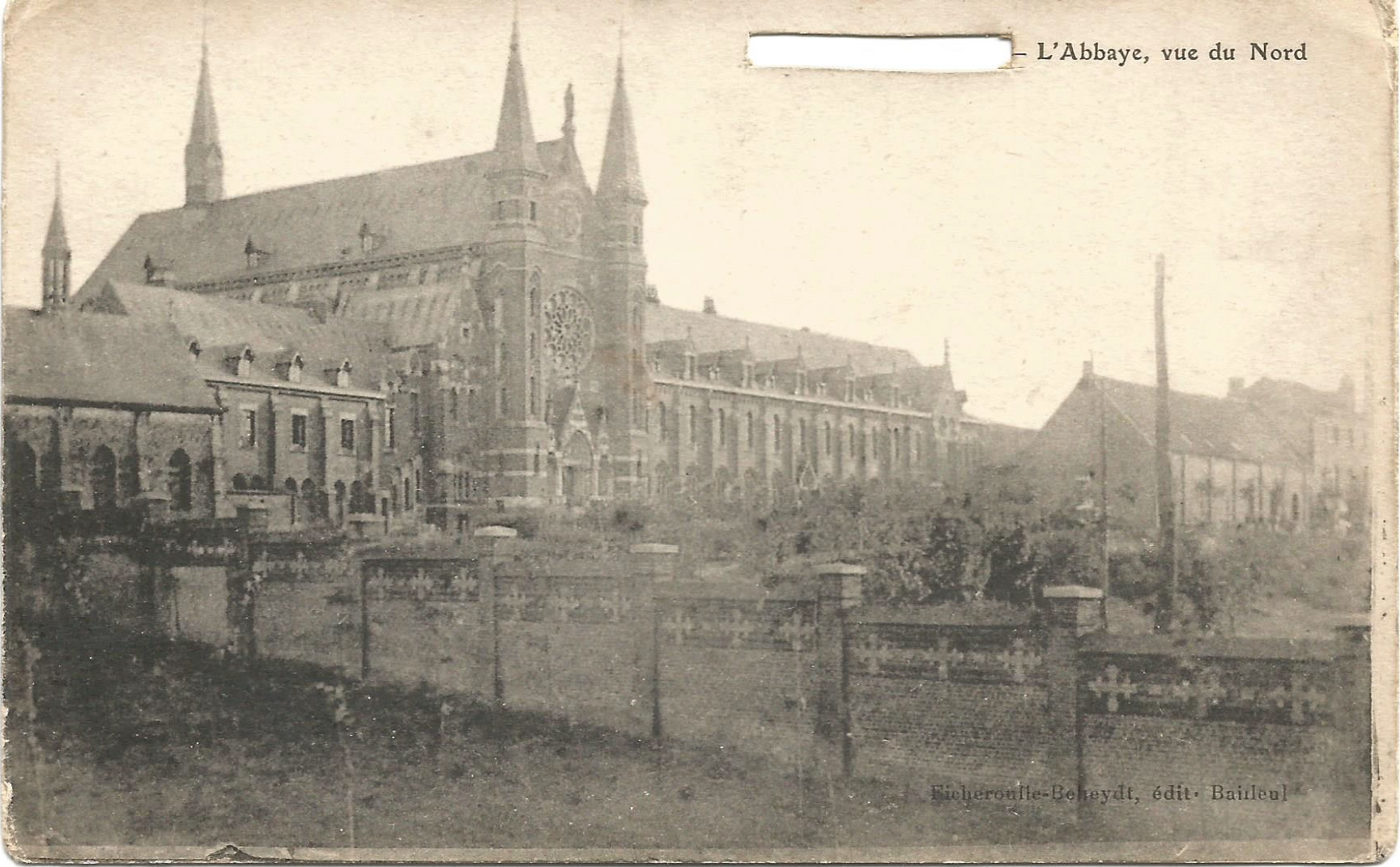 Postcard of the Abbey at Mont des Cats